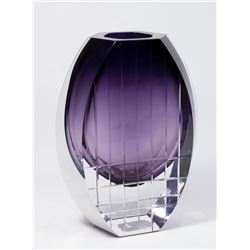 Baccarat Moderne Clear to Purple Vase