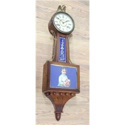 19th Century Mahogany Banjo Clock