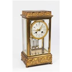 French Tiffany Crystal Regulator Clock