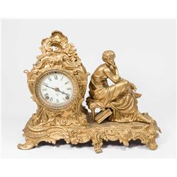Figural Ansonisa Clock with Open Escapement