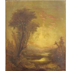 Wooded Landscape with Pond