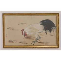 Asian Painting of Rooster