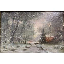 :After Louis Apol, Winter Forest Landscape