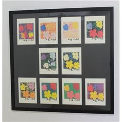 After Andy Warhol, Set of 10 Small Flowers