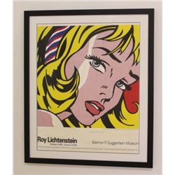 After Roy Lichtenstein, Girl with Hair Ribbon