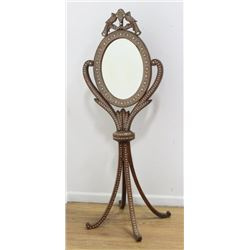 Inlaid Mirror on Quad Leg Stand