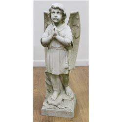 Italian Carved Marble Figure of an Angel