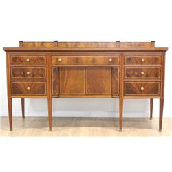 Inlaid Mahogany Sideboard with Backsplash