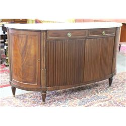 French Demilune Marble Top Sideboard