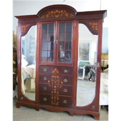 :English Arts & Crafts Inlaid Mahogany Wardrobe