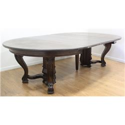 Victorian Round Walnut Dining Room Table