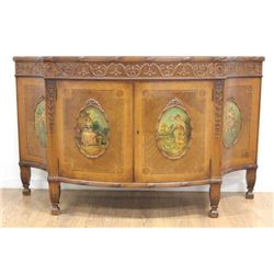 Adam Style Satinwood Commode