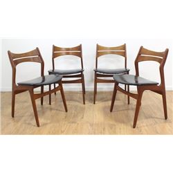4 Danish Modern Teak Side Chairs