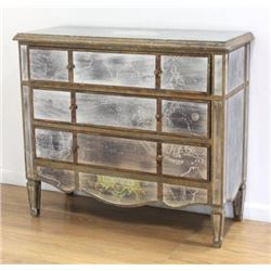 Mirrored 3-Drawer Commode