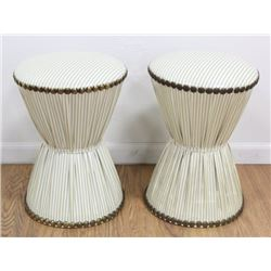 Pair 50s American Hourglass Stools