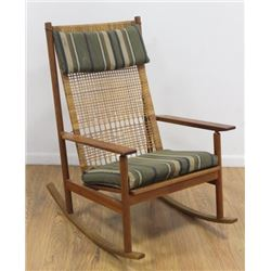 Hans Olsen for Dux Teak Rocking Chair