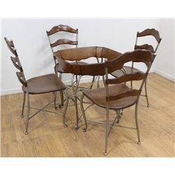5-Piece Bistro Set, Table with 4 Chairs