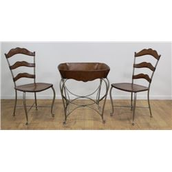 3-Piece Bistro Set, Table with 2 Chairs