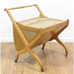 50s Italian Maple Bar Cart