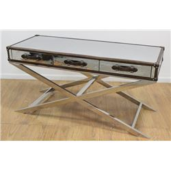 :80s Chrome & Leather Campaign Desk