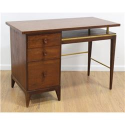 :John Stuart Brass Mounted Walnut Desk