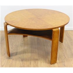 :Post Modern 50s Maple 2-Tier Coffee Table