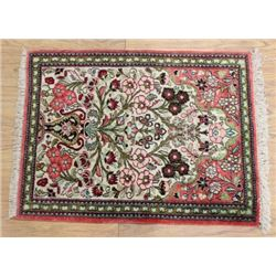 Silk & Wool Persian Scatter Rug/Carpet