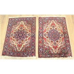 Pair Persian Handmade Wool Rugs/Carpets