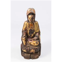 Antique Carved Wood Chinese Figure