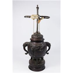 Chinese Bronze Covered Incense Urn
