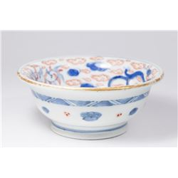 Chinese Porcelain Blue & Red Brush Bowl