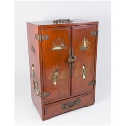 Chinese Painted Jewelry Cabinet