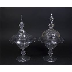 :2 Cut Crystal Covered Compotes