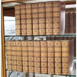 "17 Leather Bound Books ""The American Encyclopedia"""