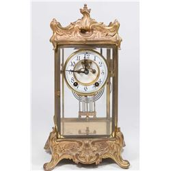 Bronze Crystal Regulator Clock