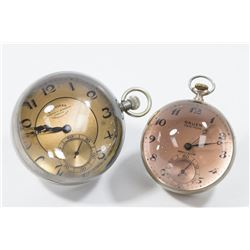 2 Crystal Ball Clocks, Gruen Verithin & Longines