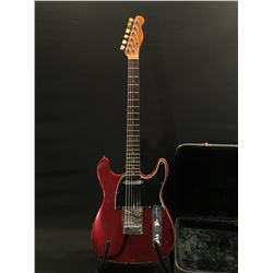 FENDER TELECASTER WITH CUSTOM DOUBLE CUTAWAY, LIKELY A VINTAGE MODEL, POTENTIALLY DATING BACK TO