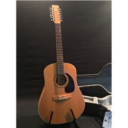 ART LUTHERIE MODEL FS-CEDAR 12 STRING ACOUSTIC GUITAR WITH SATIN LACQUER FINISH, MADE IN QUEBEC,