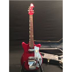 TEISCO (PLANET) ELECTRIC GUITAR WITH TWO SINGLE COIL PICKUPS, 2 TONE AND 2 VOLUME CONTROLS,