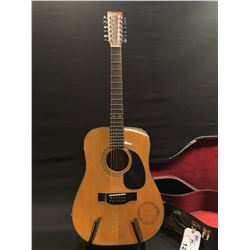 SIGMA GUITARS MODEL D12-4, 12 STRING ACOUSTIC GUITAR, SERIAL NUMBER 88082411, COMES WITH HARD SHELL