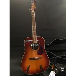 FENDER MALIBU ACOUSTIC/ELECTRIC GUITAR, SERIAL NUMBER 6644203, WITH SHALLER PICKUP, COMES WITH