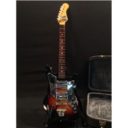 CROWN PROFESSIONAL ELECTRIC GUITAR, MADE IN JAPAN WITH DUAL DEGA STYLE PICKUPS, 2 VOLUME AND 1 TONE