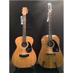 2 GUITARS: EPIPHONE MODEL AJ10 ACOUSTIC GUITAR, SERIAL NUMBER SI91011719, AND A TRADITION MODEL F-50