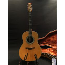 OVATION MODEL 1621 CURVED BACK COMPOSITE AND WOOD ACOUSTIC/ELECTRIC GUITAR, COMES WITH ORIGINAL
