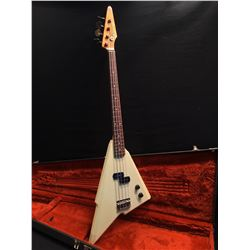 SQUIER KATANA 4 STRING BASS GUITAR, MADE IN JAPAN, SERIAL NUMBER A006595, MADE IN 1985-86 AT THE