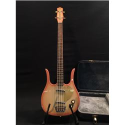 DANELECTRO LONGHORN BASS, WITH STACKED VOLUME/TONE KNOBS, ROSEWOOD BRIDGE, TWO LIPSTICK PICKUPS,
