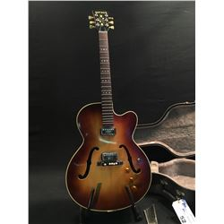 HOFNER HOLLOW BODY ACOUSTIC/ELECTRIC GUITAR, WITH TWO ORIGINAL HOFNER PICKUPS, HOFNER COMPENSATOR