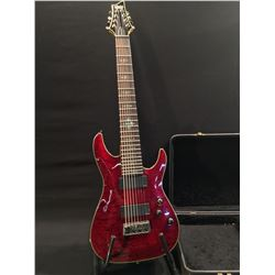 SCHECTER DIAMOND SERIES DAMIEN ELITE 8 STRING ELECTRIC GUITAR, WITH 2 EMG PICKUPS, THREE POSITION