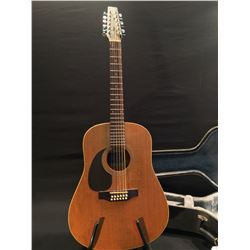 SEAGULL PLUS CEDAR 12 STRING ACOUSTIC GUITAR, SERIAL NUMBER NOT LISTED, MADE IN CANADA, MINOR CRACK
