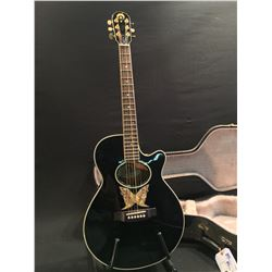 EPIPHONE MODEL EO-2EB ACOUSTIC/ELECTRIC GUITAR WITH EQ, SERIAL NUMBER Y204232, COMES WITH HARD
